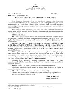 2015 Yılı U - Bafra Adliyesi
