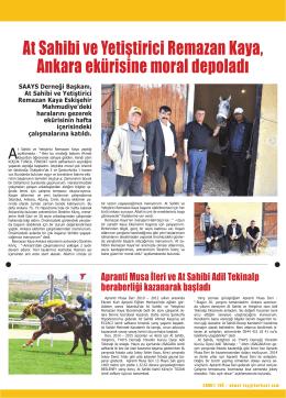At Sahibi ve Yetiştirici Remazan Kaya, Ankara ekürisine