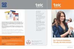 telc Türkisch-Zertifikate: Für alle, die mehr können