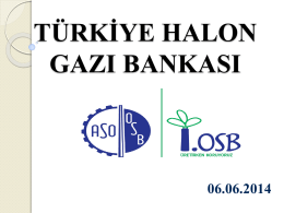tühab faaliyetleri - AOSB Ankara Sanayi Odası 1.Organize Sanayi