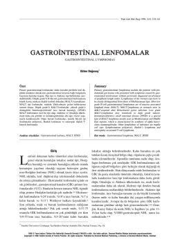 PDF - Gastrointestinal Lenfomalar