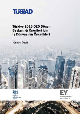 Türkiye 2015 G20 Dönem Başkanlığı Önerileri için İş