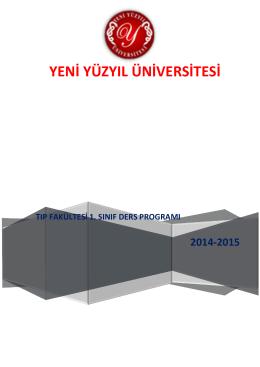 1. Kurul Ders Programı - İstanbul Yeni Yüzyıl Üniversitesi