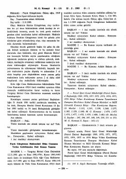 M. G. Konseyi B : 131 22 . 2 . 1983 O : 1 Hükümlü : Fayık Güngörmez
