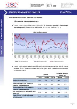 2011 ıv. çeyrek strateji raporu makroekonomik gelişmeler 27/02/2014