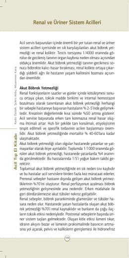 Renal ve Üriner Sistem Acilleri - Journal of Clinical and Analytical