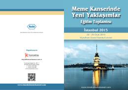 Meme Kanserinde Yeni Yaklaşımlar Eğitim Toplantısı İstanbul 2015