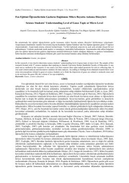 Tam Metin PDF - Kafkas Üniversitesi
