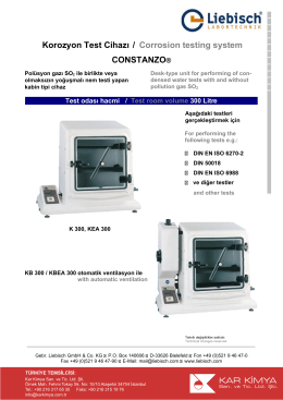 Korozyon Test Cihazı / Corrosion testing system