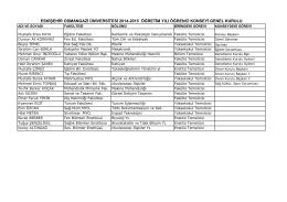 Liste için tıklayınız - Osmangazi Üniversitesi