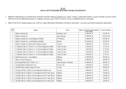 muammen bedel tespit tutanağı - Adana Büyükşehir Belediyesi