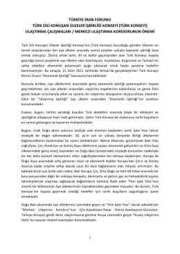 Proje Direktörü Ali Çiviler`in konuşma metni