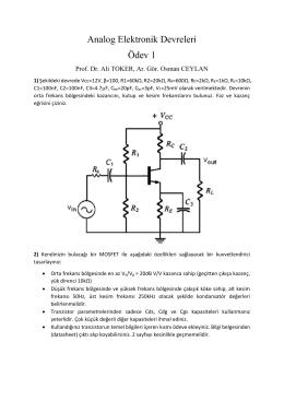Analog Elektronik Devreleri Ödev 1
