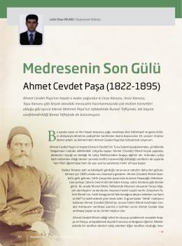Medresenin Son Gülü Ahmet Cevdet Paşa Lütfü Cihan GÜLMEZ