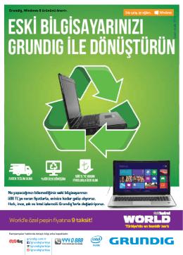 Grundig, Windows 8 ürününü önerir.
