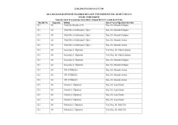 2013 -2014 bahar dönemi tdl 102 dersleri bütünleme sınav takvim