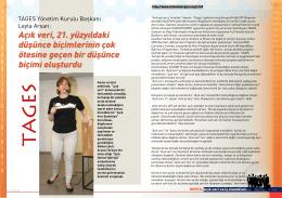 TAGES Yönetim Kurulu Başkanı Leyla Arsan