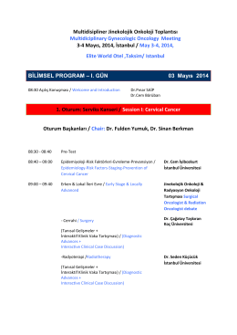 Multidisipliner Jinekolojik Onkoloji Toplantısı