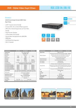 Karel RDC-223E-04 DVR Kayıt Cihazı PDF Dosyası268.43 KB