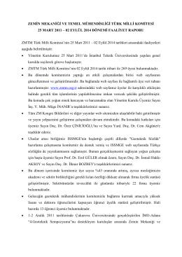 02 eylül 2014 dönemi faaliyet raporu