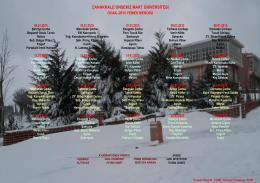 çanakkale onsekiz mart üniversitesi ocak–2015 yemek menüsü