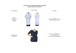 Birlik kıyafet rehberi - Kütahya İli Kamu Hastaneleri Birliği Genel
