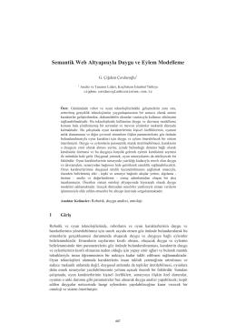 Semantik Web Altyapısıyla Duygu ve Eylem - CEUR