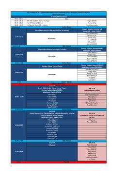 09:00 - 09:30 09:30 - 09:45 CTF KBB Anabilim Dalının Tarihçesi