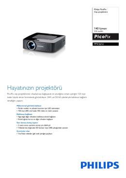 PPX3614/EU Philips Cep projektörü