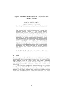Rapsim Web Sitesi Kullanılabilirlik Araştırması : Bir - CEUR