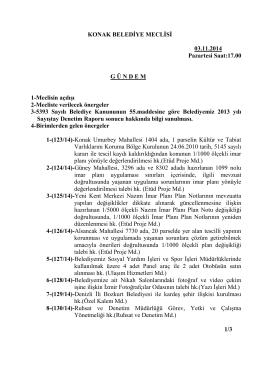 KONAK BELEDİYE MECLİSİ 03.11.2014