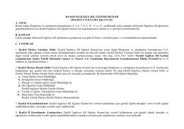 DYNED İNGİLİZCE DİL EĞİTİMİ SİSTEMİ 2014/2015