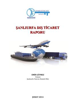 Şanlıurfa Dış Ticaret Raporu, E. Gitmez