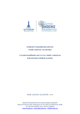 jüri değerlendirme raporu - İzmir Akdeniz Akademisi