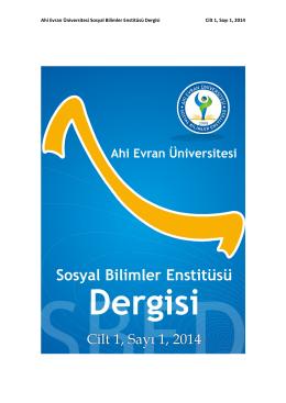 Jenerik Dosyası - Ahi Evran Üniversitesi