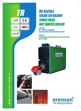 three pass hot water boıler üç geçişli sıcak su kazanı