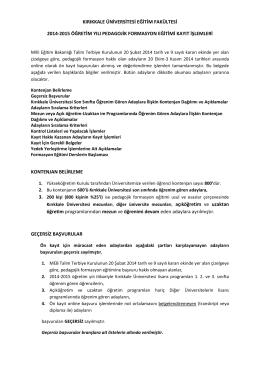 kırıkkale üniversitesi eğitim fakültesi 2014