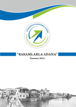 Rakamlarla Adana(2014) - Çukurova Kalkınma Ajansı