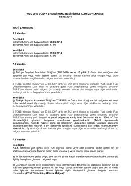 Zeyilname - Dünya Enerji Konseyi Türk Milli Komitesi