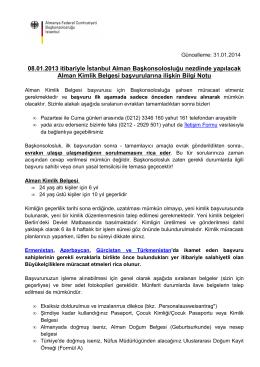 Alman Kimlik Belgesi başvurularına ilişkin Bilgi Notu [pdf, 91.94k]