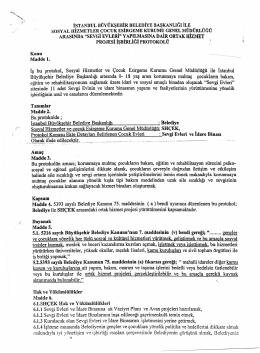 istanbul büyükşehir belediyesi ile shcek arasında işbirliği protokolü