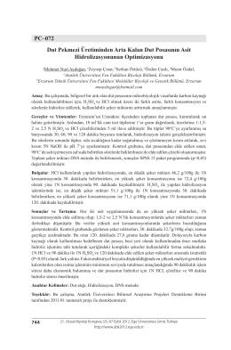 PC–072 Dut Pekmezi Üretiminden Arta Kalan Dut Posasının Asit