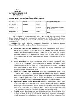 altınordu belediyesi meclis kararı