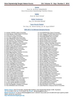 Güncel Sayı 2014 - Dicle Üniversitesi