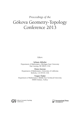 Gökova Geometry-Topology Conference 2013