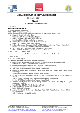 akıllı şehirler ve inovasyon zirvesi programı - UCLG-MEWA