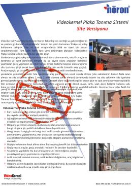 pdf indir! - Plaka Tanıma Sistemleri