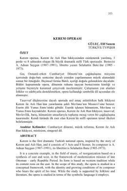 GÜLEÇ, Elif Sanem-KEREM OPERASI
