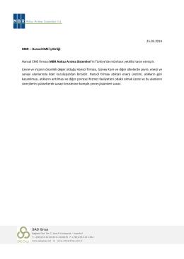 MBR ile Hansol EME İş Birliği - MBR Atıksu Arıtma Sistemleri