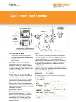 Bilgi formuı: TS27R takım ölçme probu
